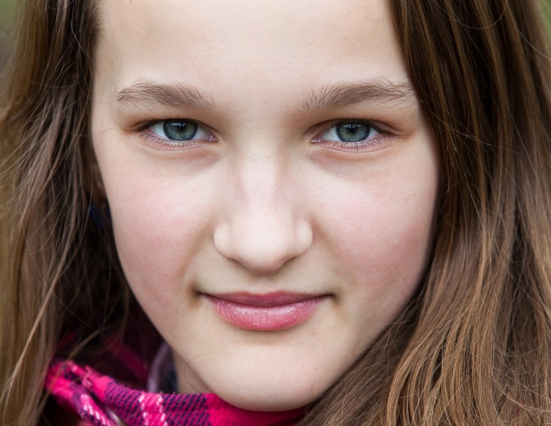 an amazingly beautiful Catholic 12-year-old girl photographed in April 2014, picture 26, cropped