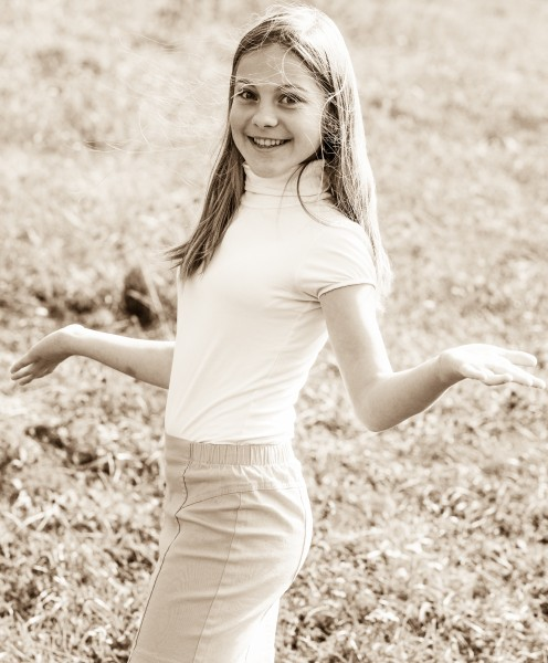 an amazingly beautiful young Catholic girl photographed in October 2014, picture 51, black and white