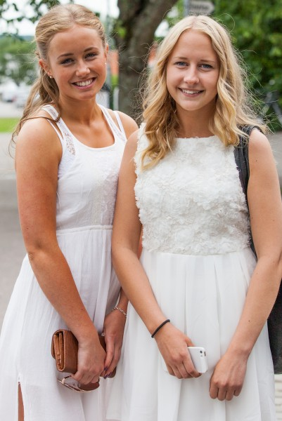 beautiful blond girls in Sigtuna, Sweden in June 2014, picture 1