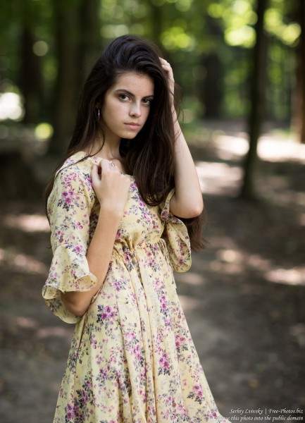 Christina - a 16-year-old brunette girl photographed in July 2019 by Serhiy Lvivsky, picture 17
