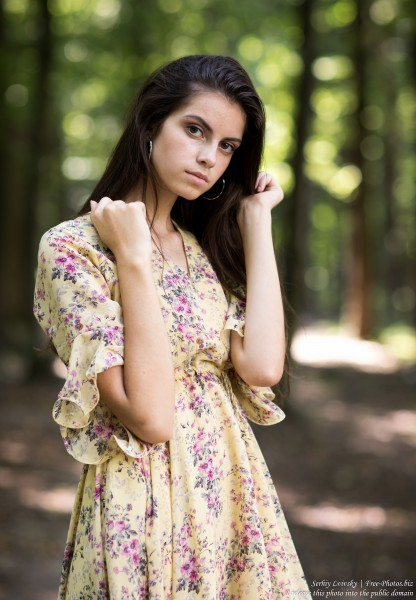 Christina - a 16-year-old brunette girl photographed in July 2019 by Serhiy Lvivsky, picture 24