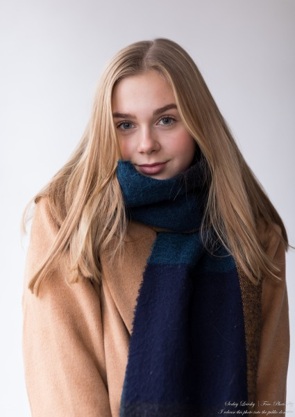 Emilia - a 15-year-old natural blonde Catholic girl photographed in November 2020 by Serhiy Lvivsky, picture 12