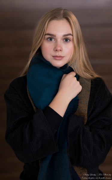 Emilia - a 15-year-old natural blonde Catholic girl photographed in November 2020 by Serhiy Lvivsky, picture 15