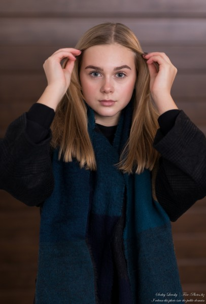 Emilia - a 15-year-old natural blonde Catholic girl photographed in November 2020 by Serhiy Lvivsky, picture 16