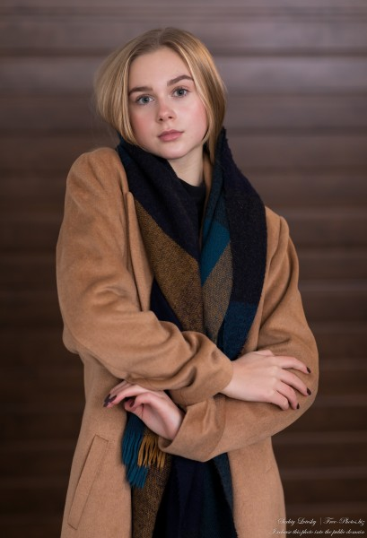 Emilia - a 15-year-old natural blonde Catholic girl photographed in November 2020 by Serhiy Lvivsky, picture 17