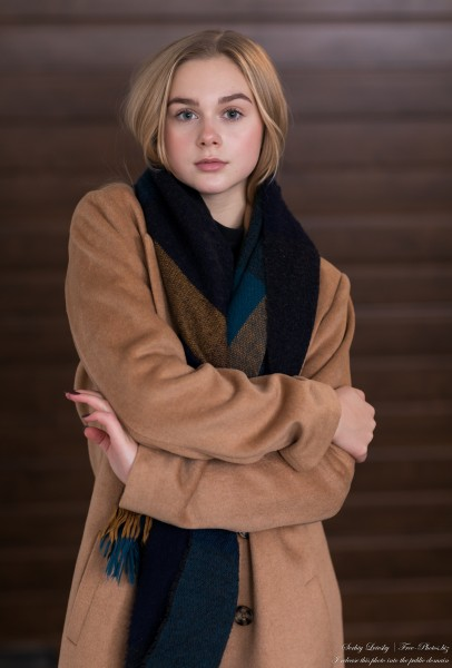 Emilia - a 15-year-old natural blonde Catholic girl photographed in November 2020 by Serhiy Lvivsky, picture 18