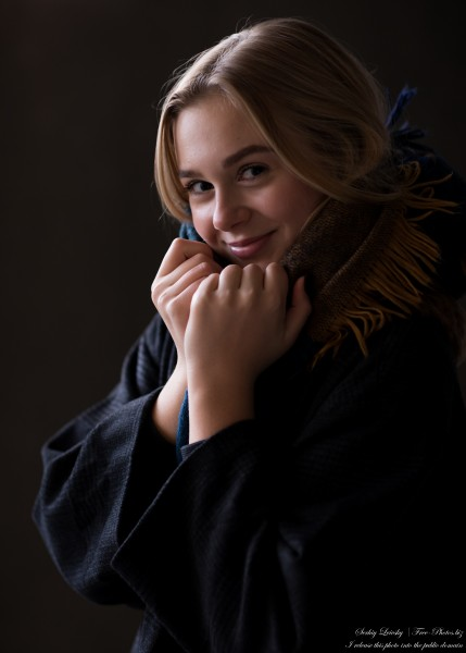 Emilia - a 15-year-old natural blonde Catholic girl photographed in November 2020 by Serhiy Lvivsky, picture 21
