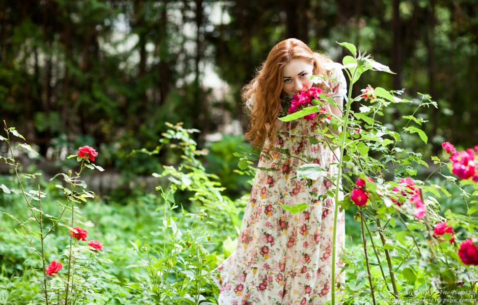 Ira - a girl with natural red hair photographed by Serhiy Lvivsky in July 2017, picture 1