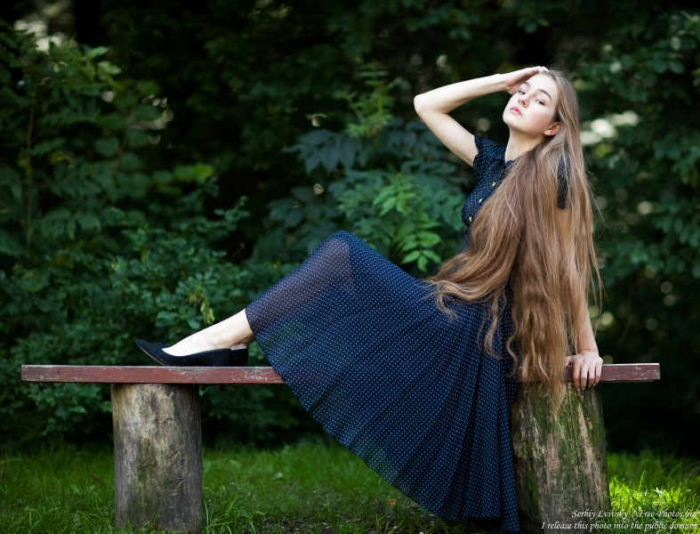 Justyna - a 16-year-old fair-haired girl photographed in June 2018 by Serhiy Lvivsky, picture 22