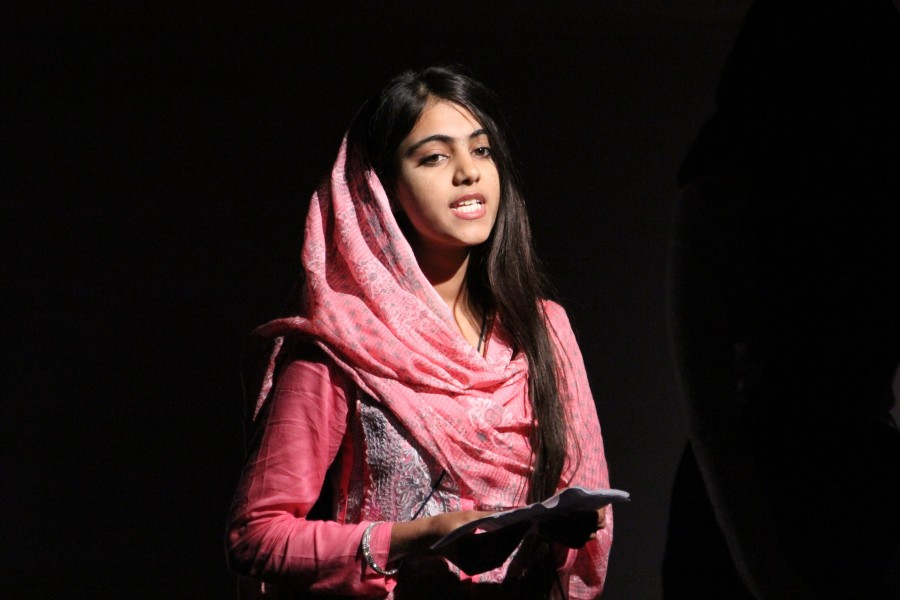 Laraib, 18, from Pakistan, takes part in a performance at the Girl Summit 2014 (14724587082)