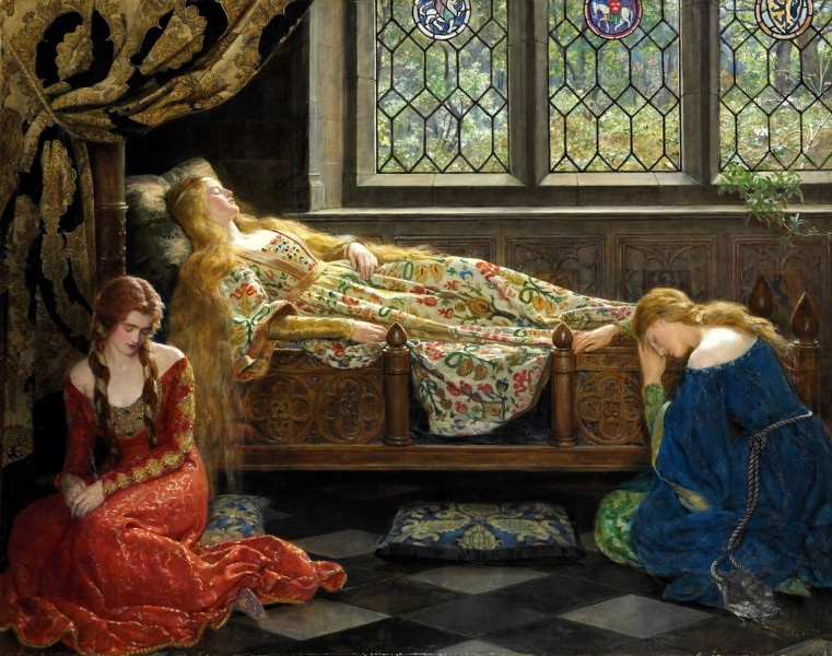 The sleeping beauty by John Collier 2