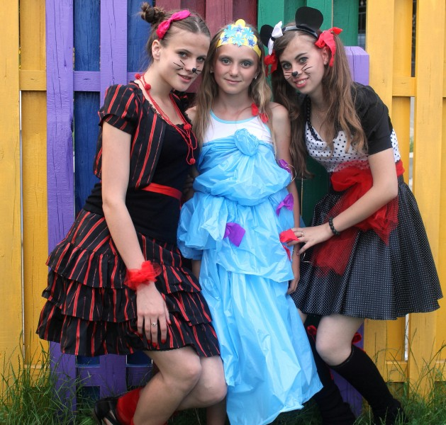 three fantastic beautiful girls in a Catholic camp, picture 26