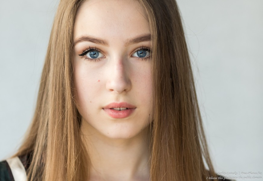Vika - a 17-year-old girl with blue eyes and natural fair hair photographed in June 2019 by Serhiy Lvivsky, picture 6