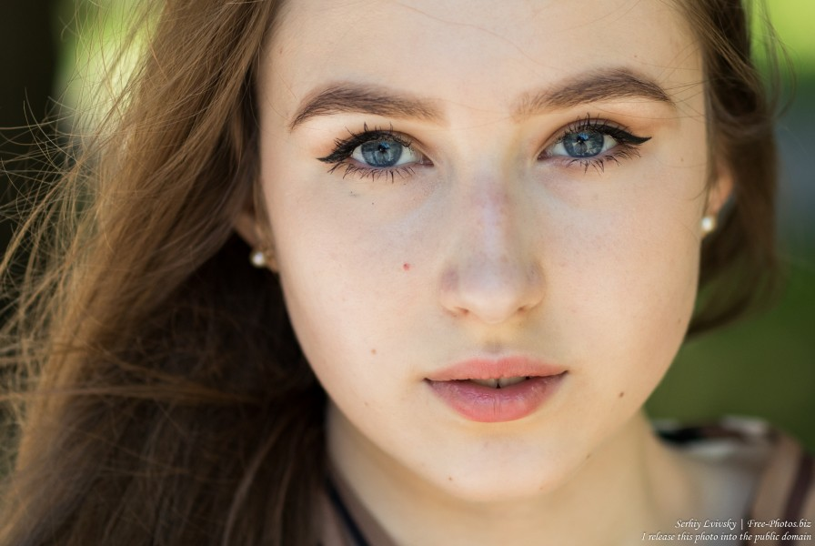 Vika - a 17-year-old girl with blue eyes and natural fair hair photographed in June 2019 by Serhiy Lvivsky, picture 25