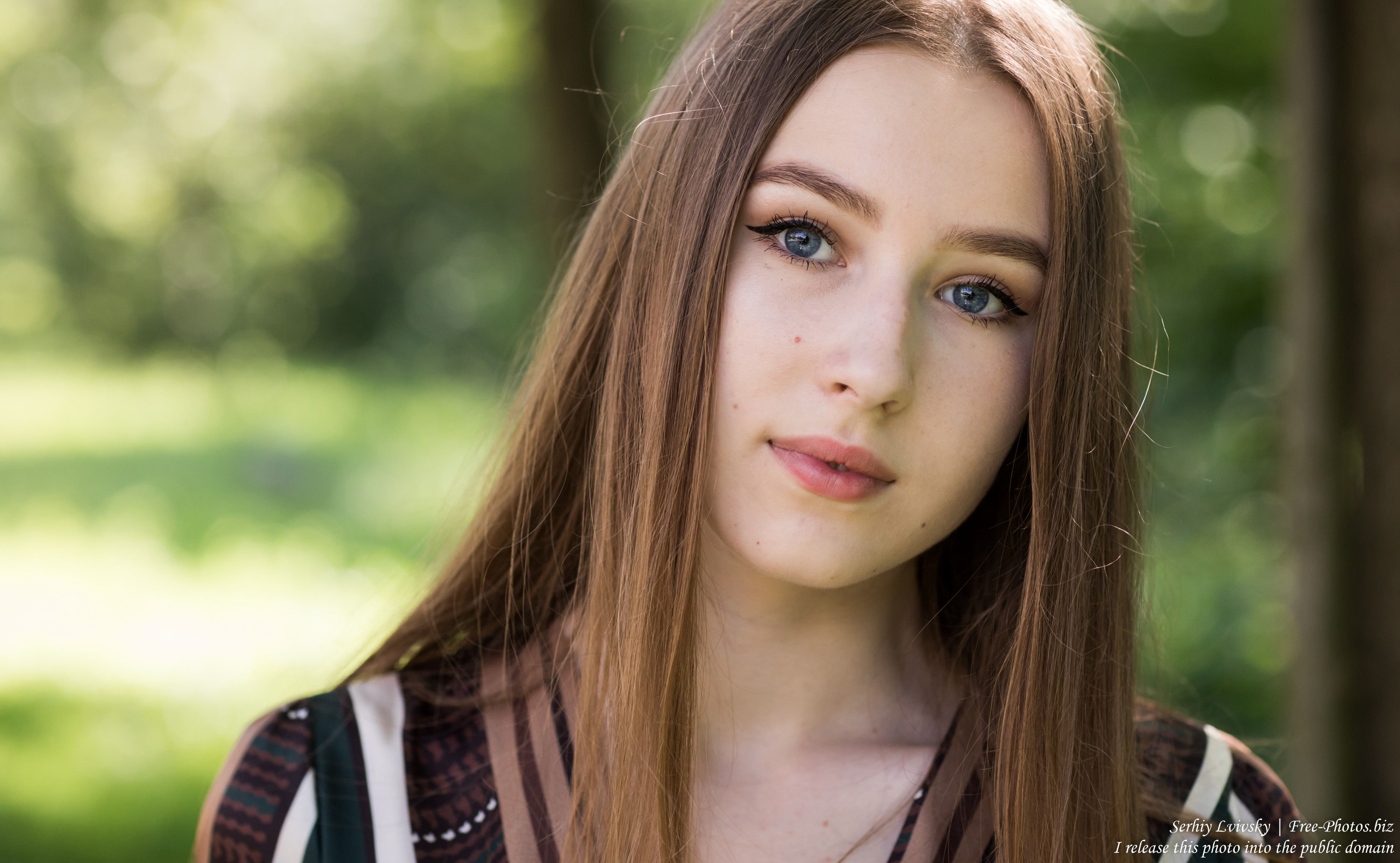 Vika - a 17-year-old girl with blue eyes and natural fair hair photographed in June 2019 by Serhiy Lvivsky, picture 24