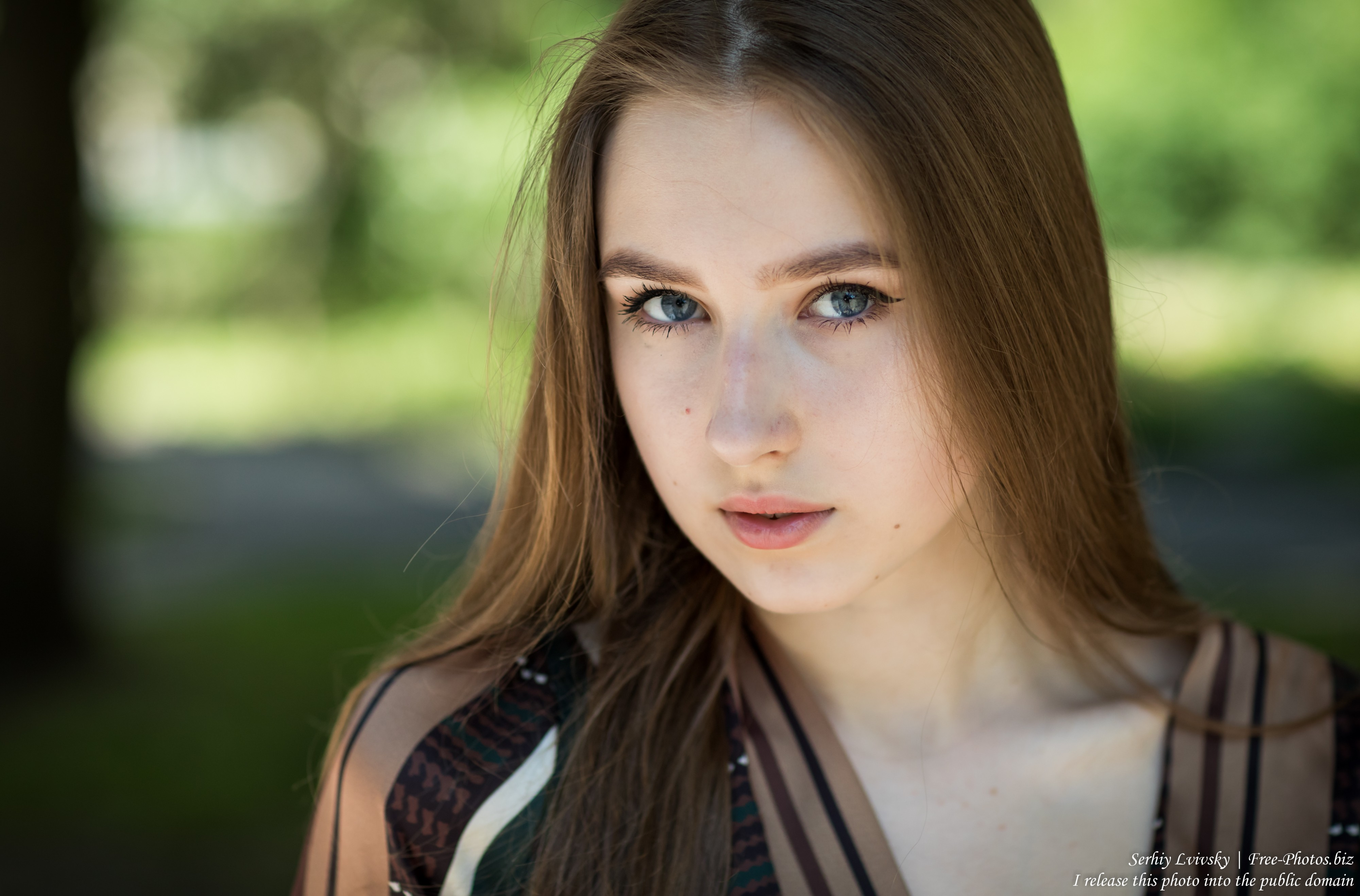 Vika - a 17-year-old girl with blue eyes and natural fair hair photographed in June 2019 by Serhiy Lvivsky, picture 28