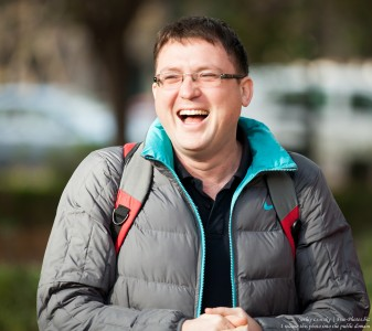 a laughing man photographed in December 2015 by Serhiy Lvivsky, picture 1