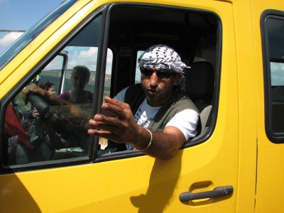 A man - driver in Israel