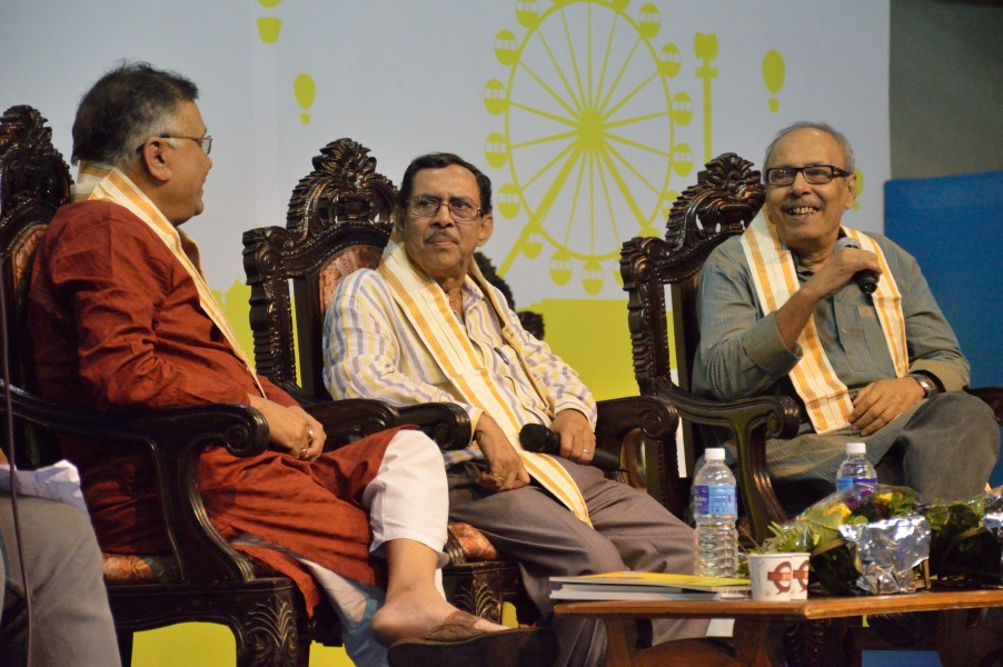 Anup Kumar Motilal - Haripada Bhowmik - Shirshendu Mukhopadhyay - Panel Discussion - Evolution of Bengali Cuisine - Ahare Bangla - Bengal Food Festival 2015 - Kolkata 2015-11-01 6874