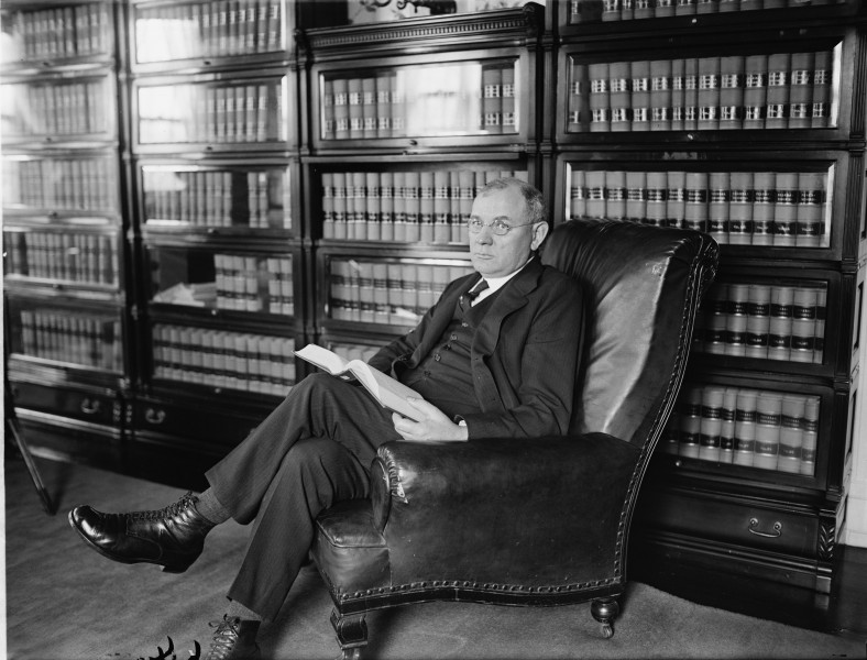 Justice Pierce Butler in chair