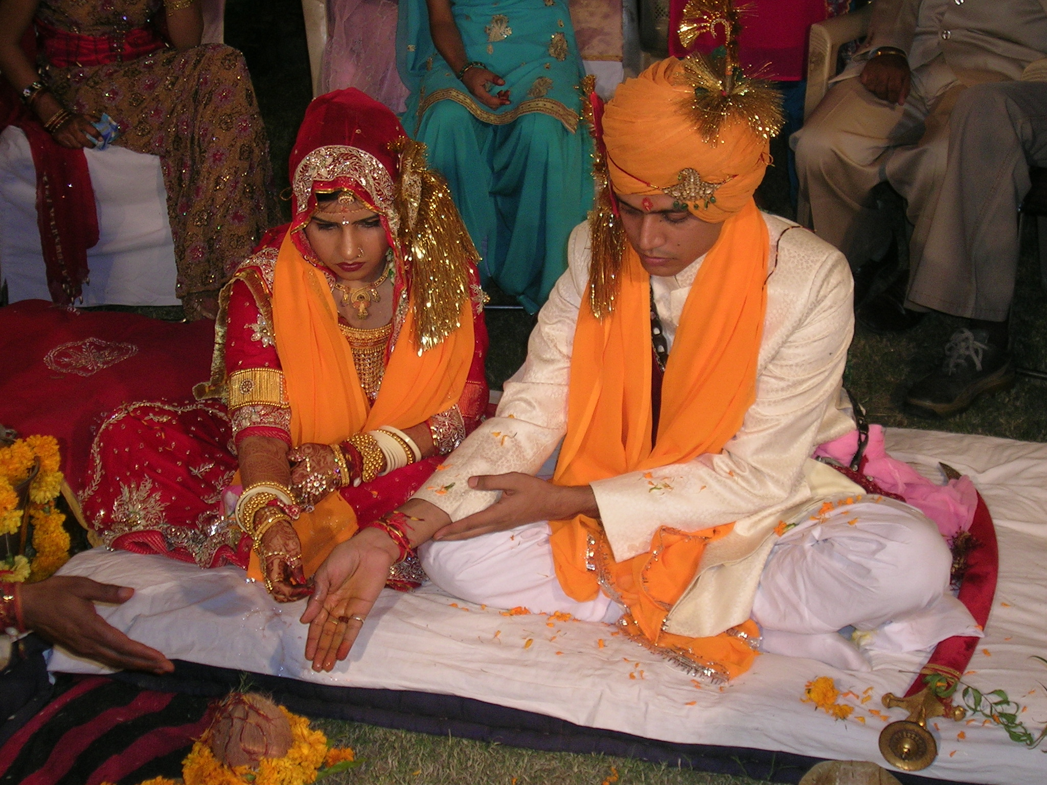 Hindu marriage ceremony offering