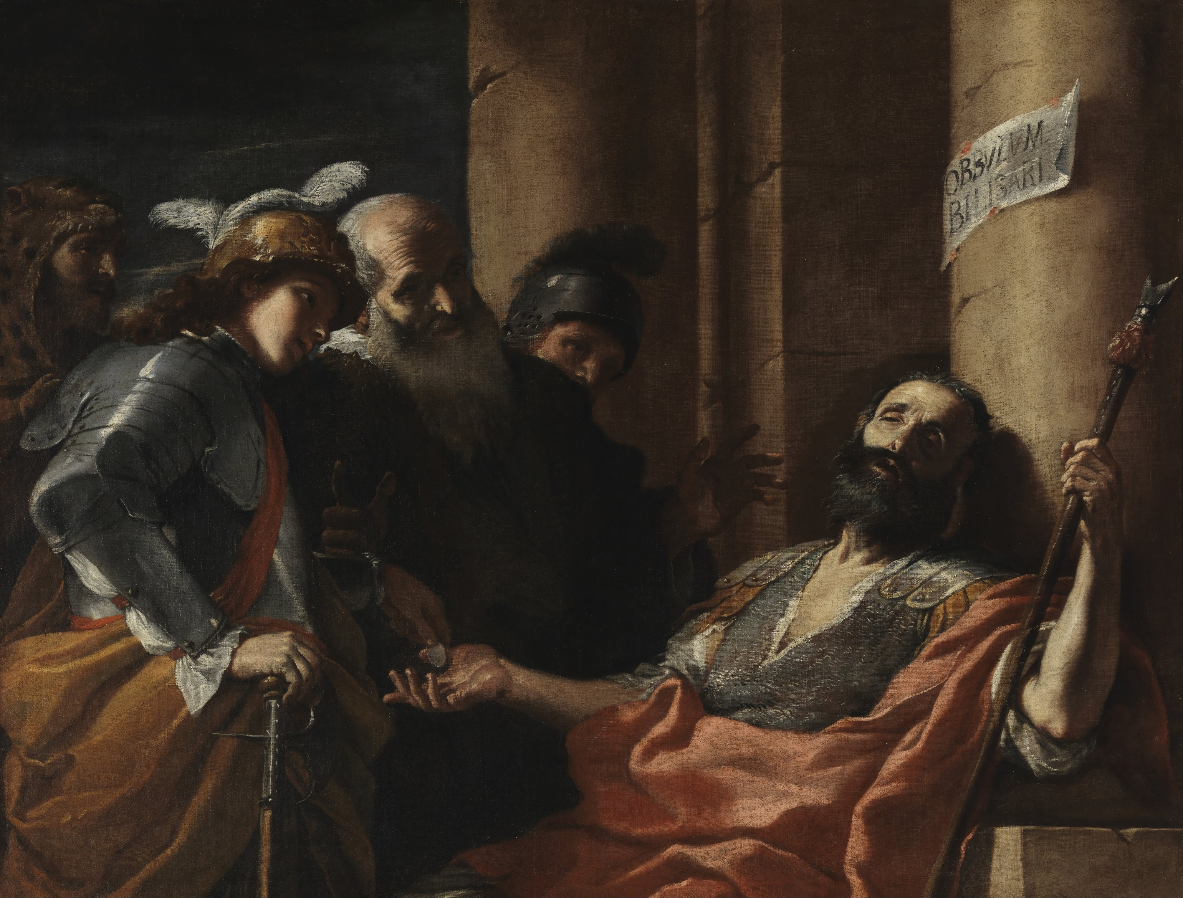 Mattia Preti - Belisarius Receiving Alms - Google Art Project