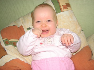 a smiling baby girl, picture 023