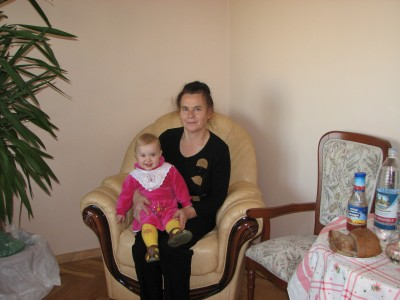 Grandmother with her granddaughter, family