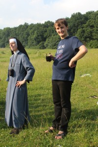 A nun and a deacon in a Catholic camp for children (vacations with God), June 2012, picture 125