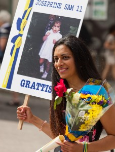 a girl on a graduation celebration in Uppsala, Sweden, in June 2014, picture 6