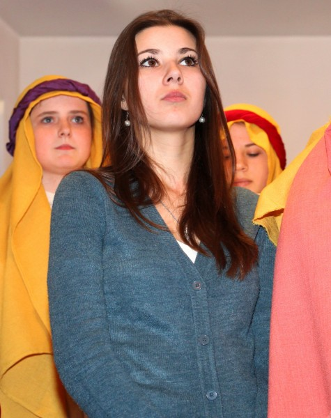 a beautiful Catholic girl who have just acted in the Passion of the Christ performance, photo 1