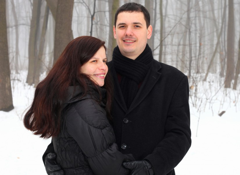 a sweet beautiful charming Catholic woman with her handsome husband, picture 8