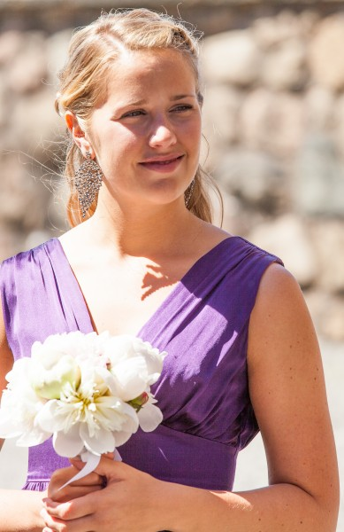 a blond girl in Gothenburg, Sweden in June 2014, picture 3/4