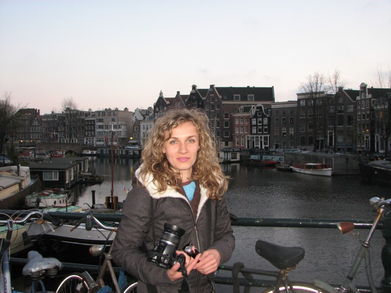 A girl in Amsterdam, April 2012, The Netherlands, Europe, picture 1
