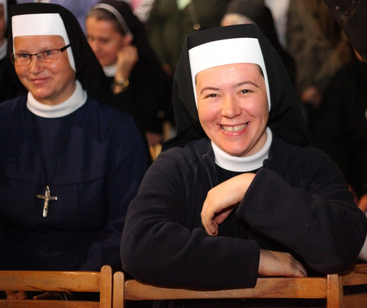 Catholic nuns during a celebration