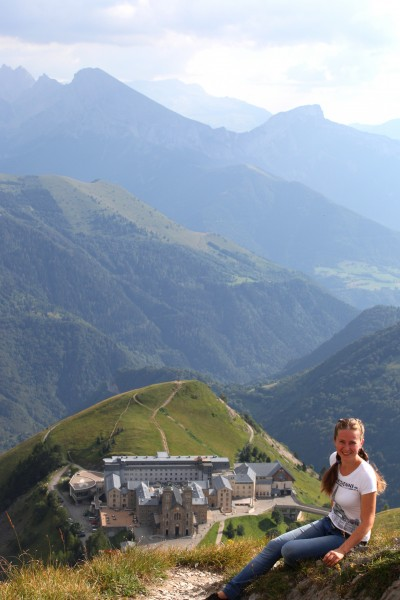 a Catholic girl near the La Salette sanctuary, France, Europe, August 2013, picture 24