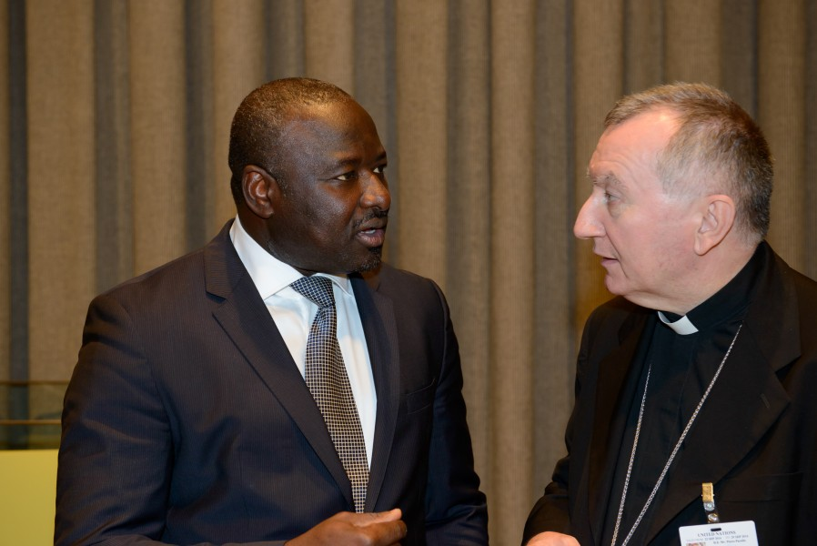 Lassina Zerbo and Pietro Cardinal Parolin at Seventh Ministerial Meeting on the Comprehensive Nuclear-Test-Ban Treaty (CTBT)