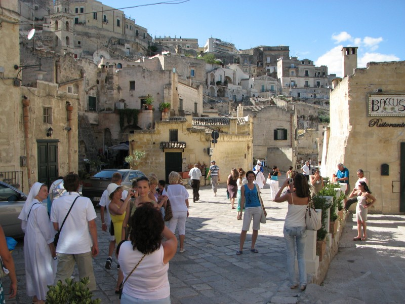 Girls are being taken pictures of in Matera town, southern Italy, European Union, picture 4