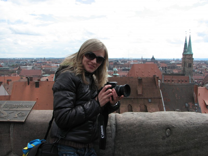 A girl with a Canon camera, Nuremberg, Germany