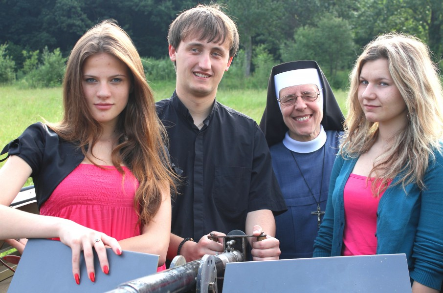 four people in a Catholic camp, picture 25