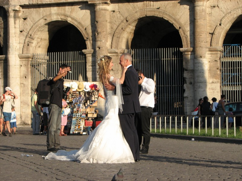 Newlyweds in Rome, Italy, European Union, August 2011, picture 31.