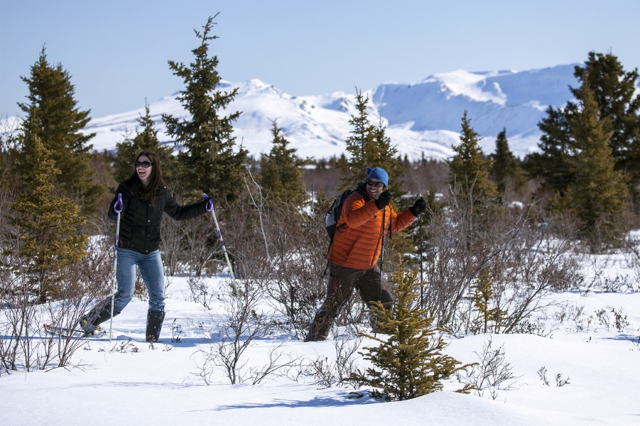 Snowshoeing at Mountain Vista (8638066885)