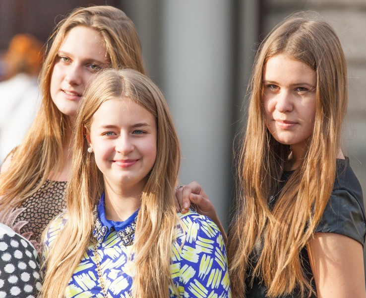 three girls photographed in September 2014
