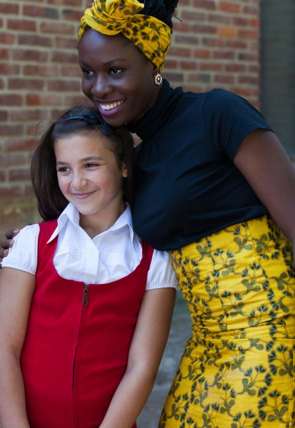 two Catholic girls photographed in September 2014