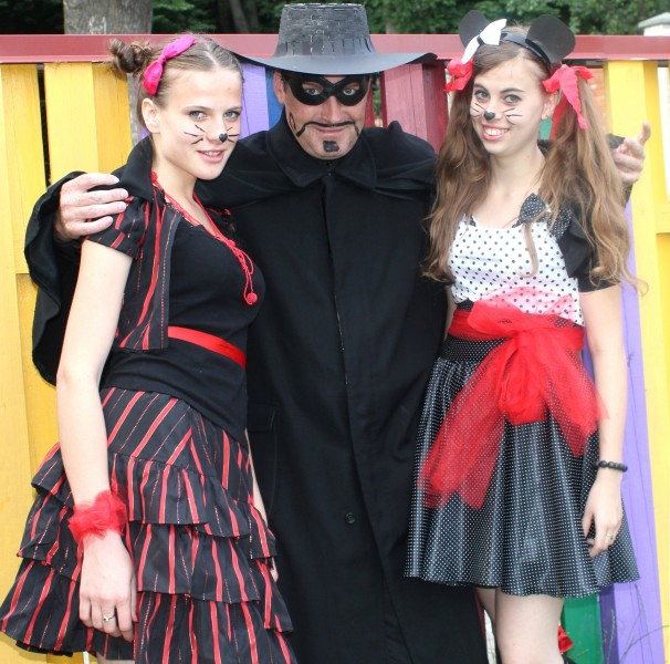 two fantastic charming girls-animators and a man in a Catholic camp, photo 30
