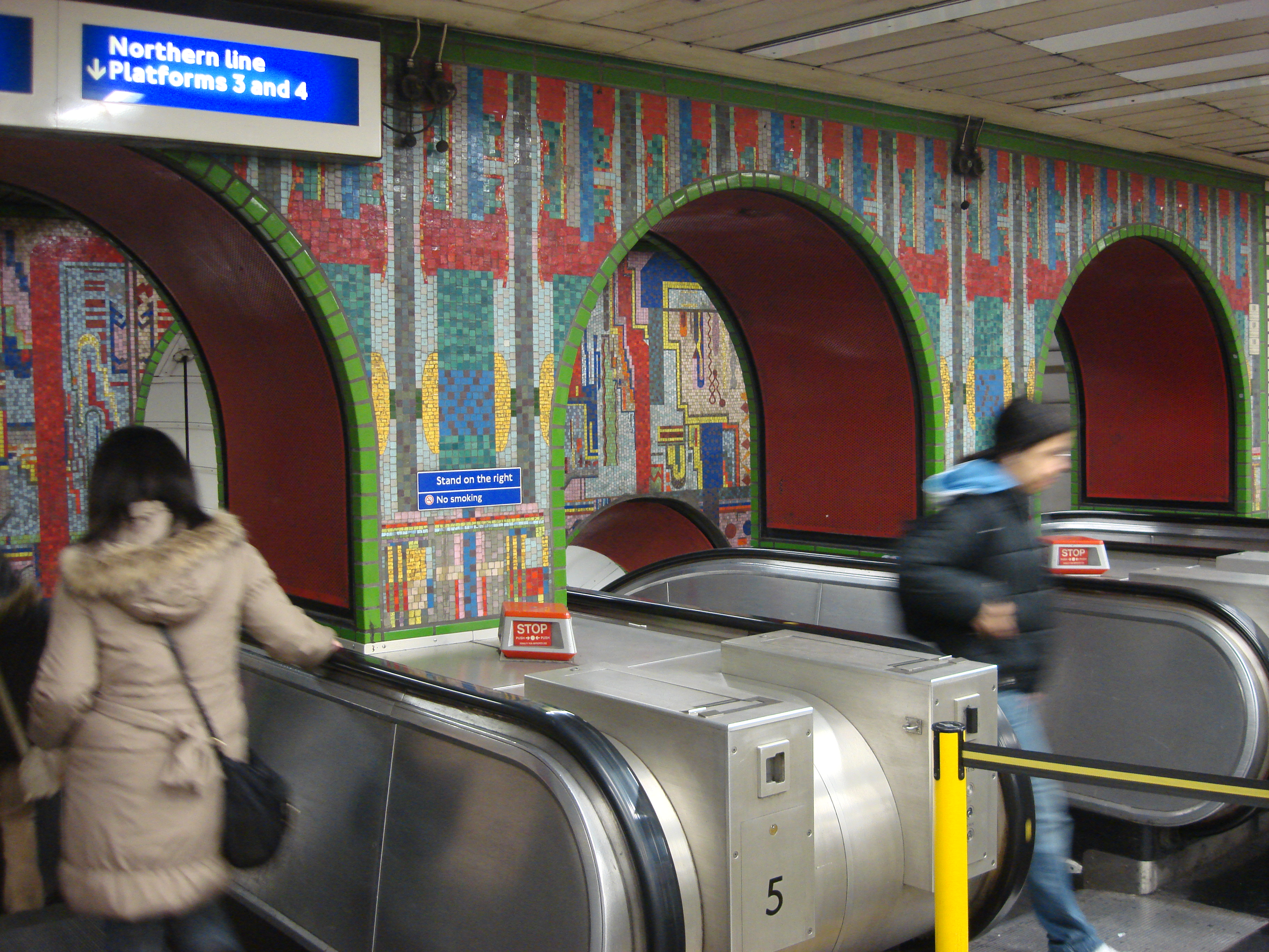 Tottenham Court Road tube Mosaic