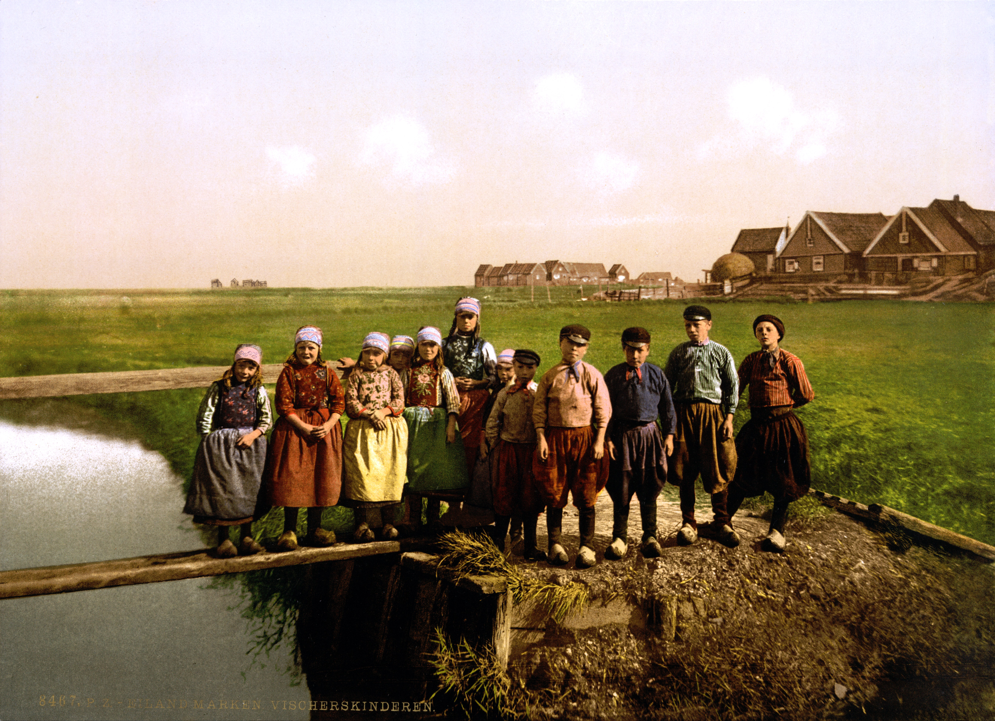 Fisher children, Marken Island, North Holland, the Netherlands, 1890s
