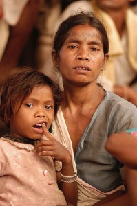 Baiga woman and child, India