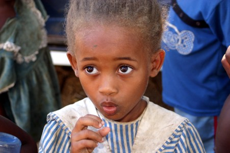 a kid in Madagascar