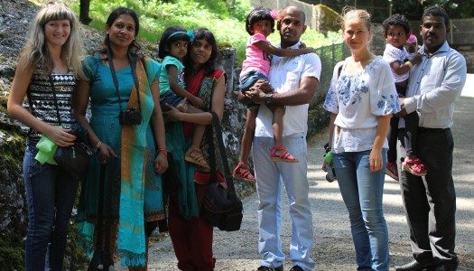 people of different nations (Ukrainian, Sri Lankan) in Lourdes, France, August 2013, photo 27
